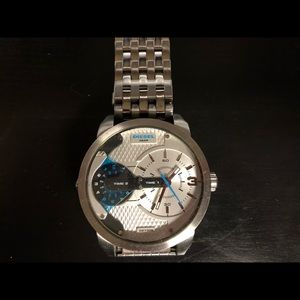 Diesel Industry Fashion Line Silver Watch #DZ7305